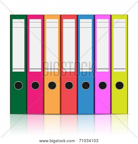 Folder to store files isolated on white background. Vector illustration.