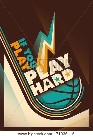 Modern design of basketball poster. Vector illustration.