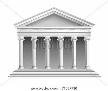 Temple with colonnade