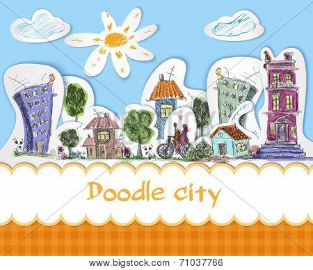 City doodle poster