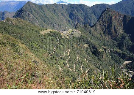 Abandoned City of Machu Picchu and Huayna Picchu mountain