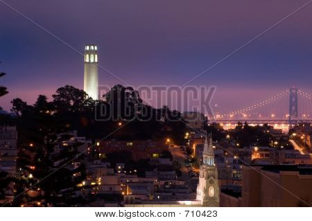 Telegraph Hill At Night