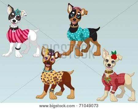 Lovely Dogs Dress up 1