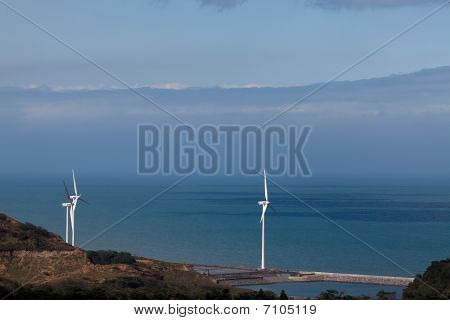 golf place with nice green and Power Windmill