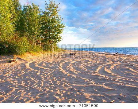 Lake Superior Beach Summer Evening
