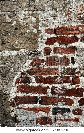 Grunge Brick Background Wall