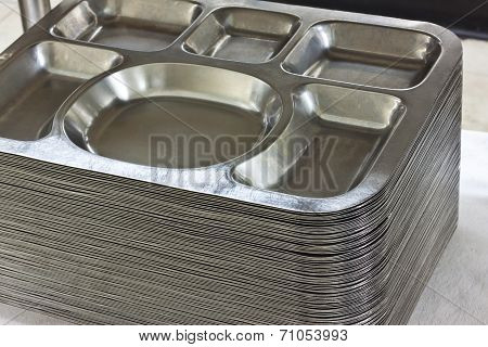 the stainless tray