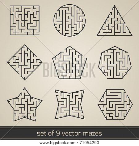 Maze labyrinth set