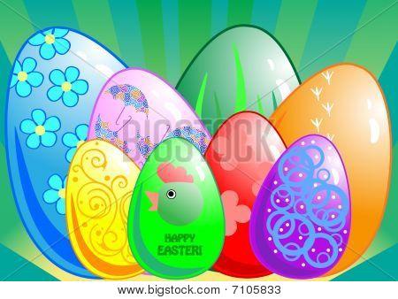Eight Easter eggs