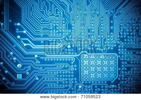 Computer Circuit Board Closeup