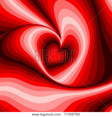 Design Heart Whirl Rotation Illusion Background