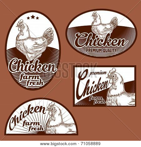 Chicken meat vintage