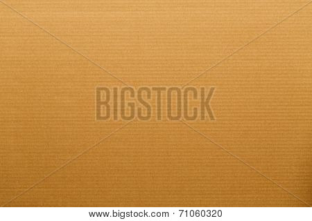 Closeup on a cardboard surface with horizontal lines