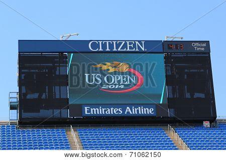 Arthur Ashe Stadium scoreboard at Billie Jean King National Tennis Center