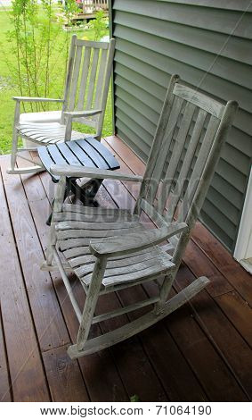 White adirondack rocking chairs