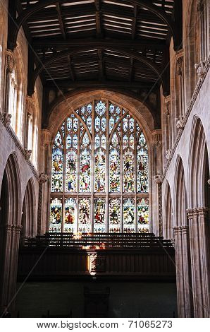 Church stained glass window, Oxford.