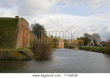 Fort Brockhurst View Across Moat To Keep