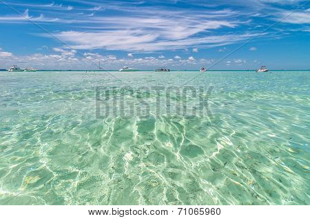 tropical sea in Isla Mujeres, Mexico