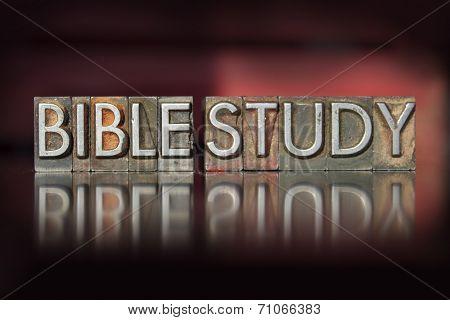 Bible Study Letterpress