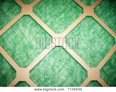 Close-Up Clean Paper Furnace Air Filter
