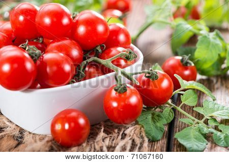 Heap Of Fresh Cherry Tomatoes
