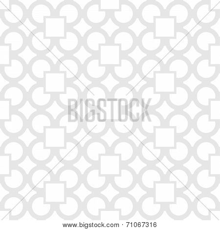 Vector Seamless Pattern - Simple Geometric Gray & White Modern Background