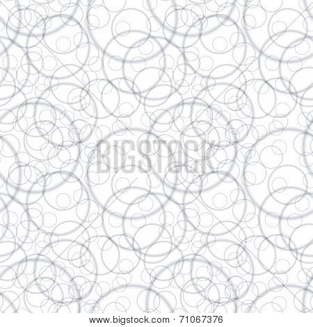 Vector Seamless Pattern - Geometric Chaotic Circular Light Background