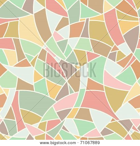 Vector Seamless Pattern - Abstract Chaotical Pastel Color Mosaic Background