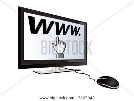 Concept of internet navigation or e-commerce