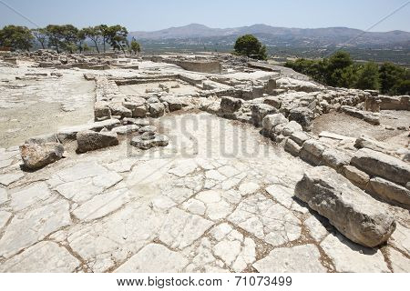 Phaestos Minoan Palatial City Ruins In Crete. Greece