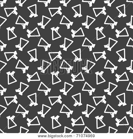 Mouthpiece. web icon. flat design. Seamless pattern.
