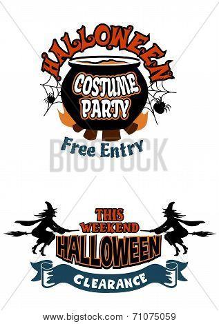 Halloween holiday invitations