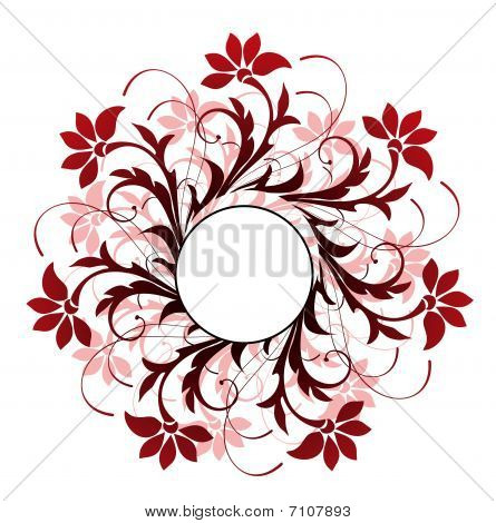 color flower pattern and  circle