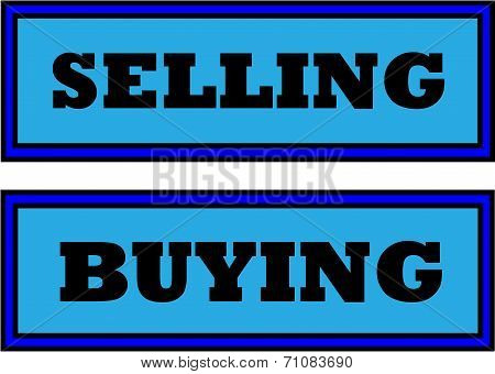 Selling And Buying Sign