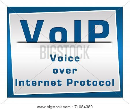 VoIP Square Blue
