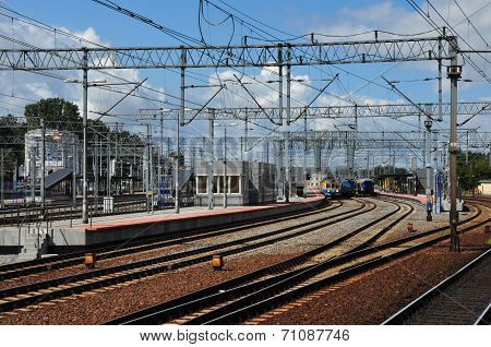 Train Station In Gdynia, Poland