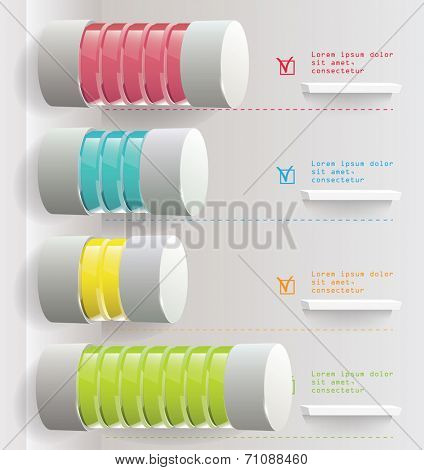 Vector bar chart on the white background. Infographic element. Vector illustration