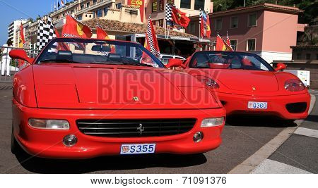Luxury Car Ferrari In Monaco