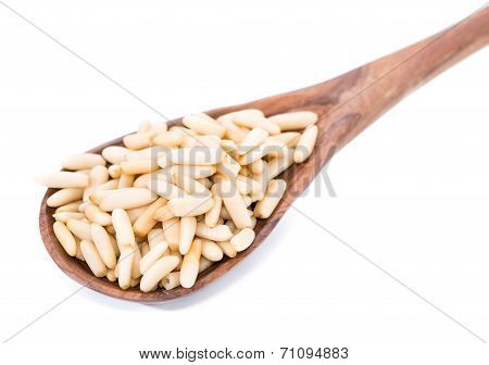 Isolated Pine Nuts