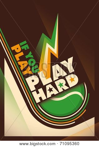 Modern design of tennis poster. Vector illustration.