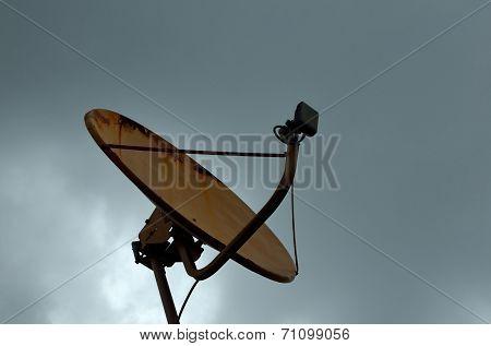 Satellite Reciever Under Sky
