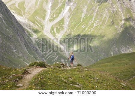 Young Girl In The Alps
