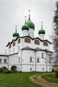 foto of nicholas  - St. Nicholas Convent in the village of Vyazhishchi near Veliky Novgorod Russia. Cathedral of St. Nicholas the Wonder-Worker