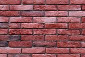 stock photo of tile cladding  - Brick wall background horizontal stone wall texture - JPG