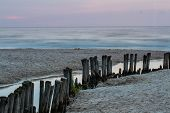stock photo of sea-scape  - Sunset over the sea - JPG