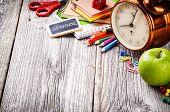 pic of homework  - Colorful school supplies - JPG