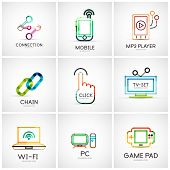 foto of chain  - Set of various company logos - JPG