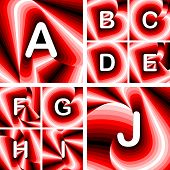 stock photo of letter j  - Design ABC letters from A to J - JPG