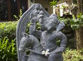 stock photo of vedic  - the lord of ganesha on the horse statue - JPG