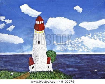 Lighthouse with Ocean View During the Day